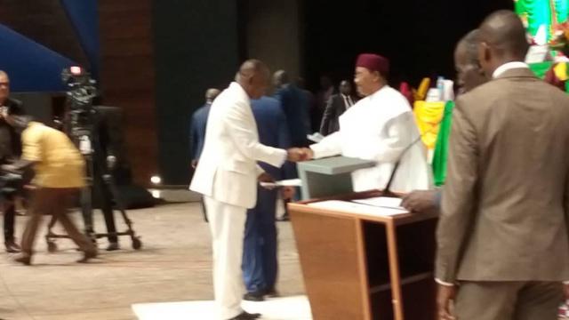 ECOWAS Chairman receiving the 5th Ecowas Parliament Legislature MP